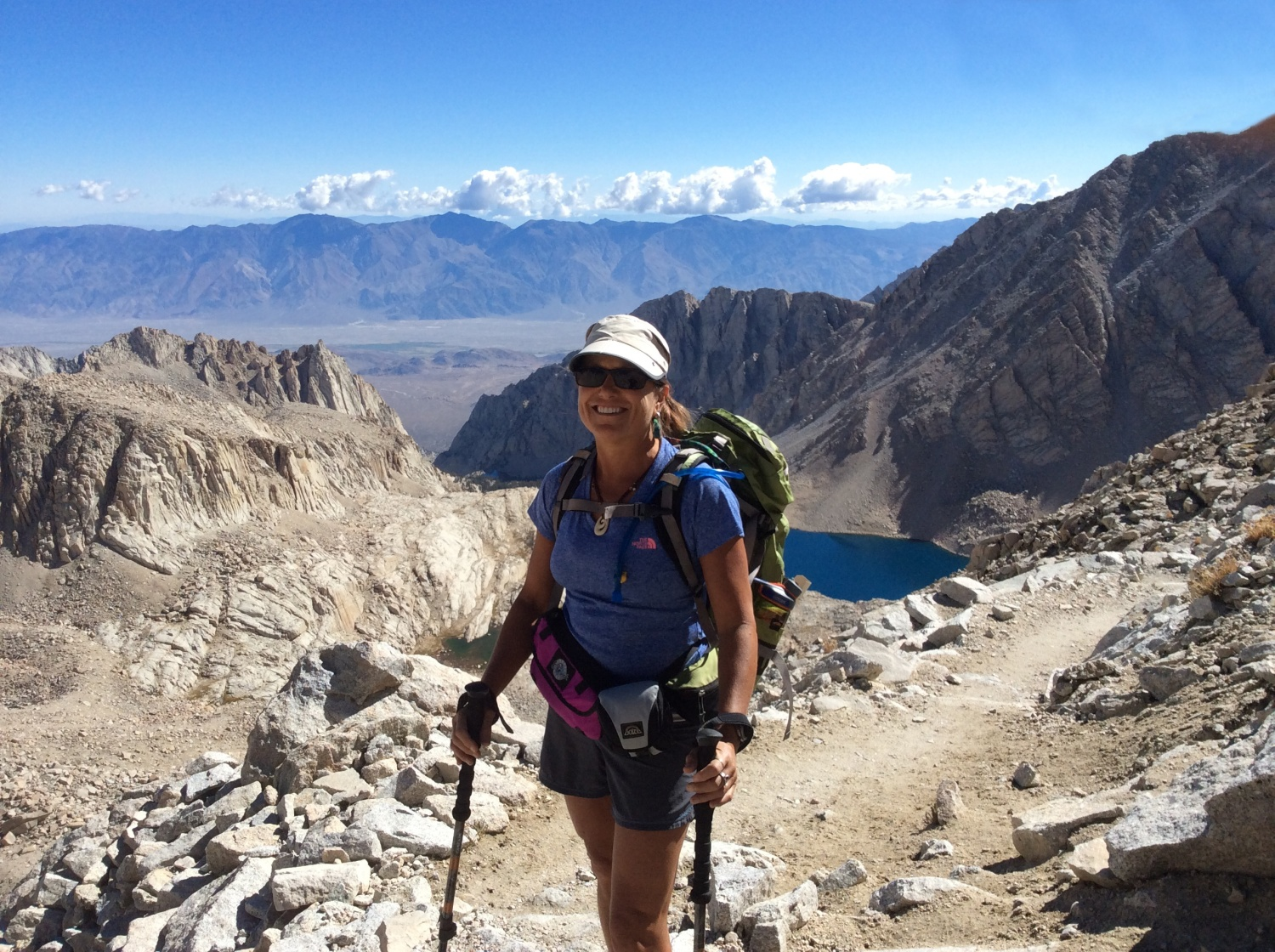 View from Trail Crest on the way to Mount Whitney